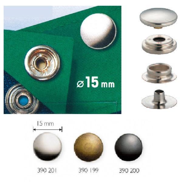 Τρούκς κουμπιά μεταλλικά 15mm