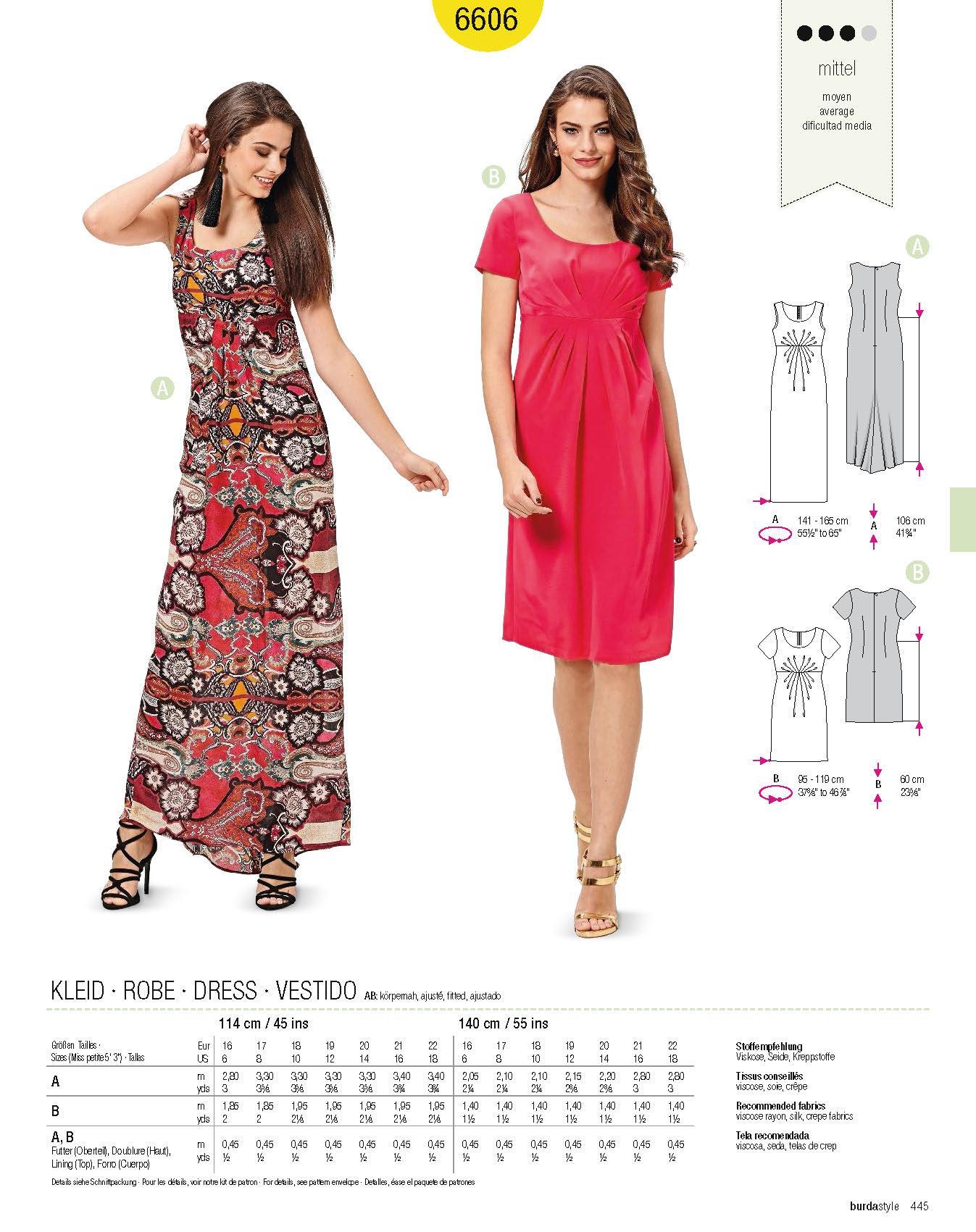 Πατρόν Burda Short sizes / 6606