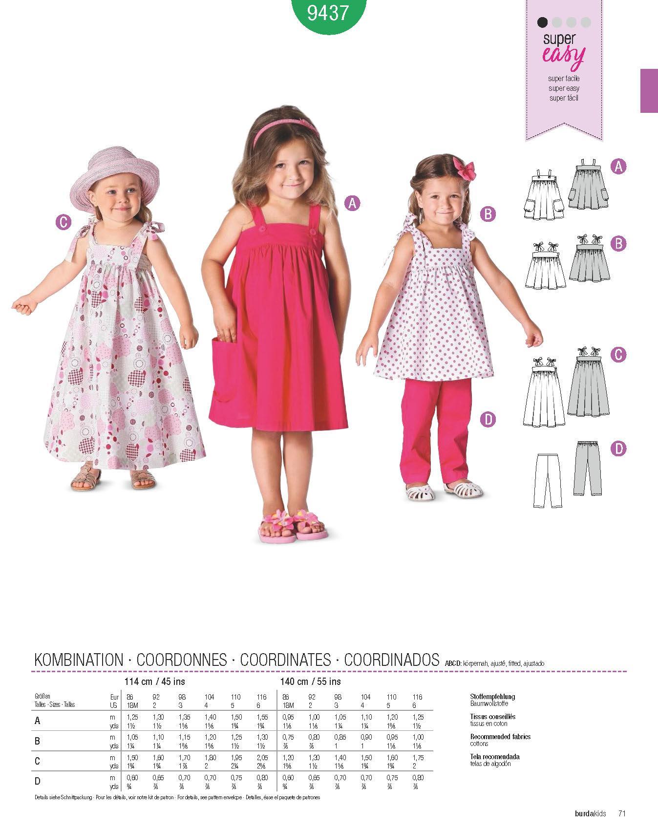 520a221d349 Μόδα για μικρά παιδιά: Πατρόν Burda Kids / 9437